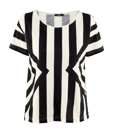 H&M stripes black and white